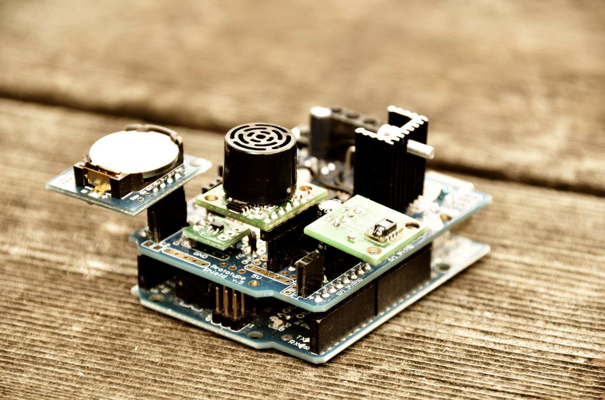 Ultrasonic Dimmer Alcs Leds Circuit And Alarm